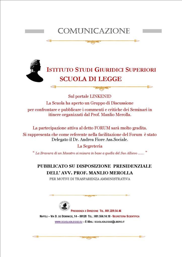 COMUNICAZIONE WEB   ISGS GRUPPO DI DISCUSSIONE