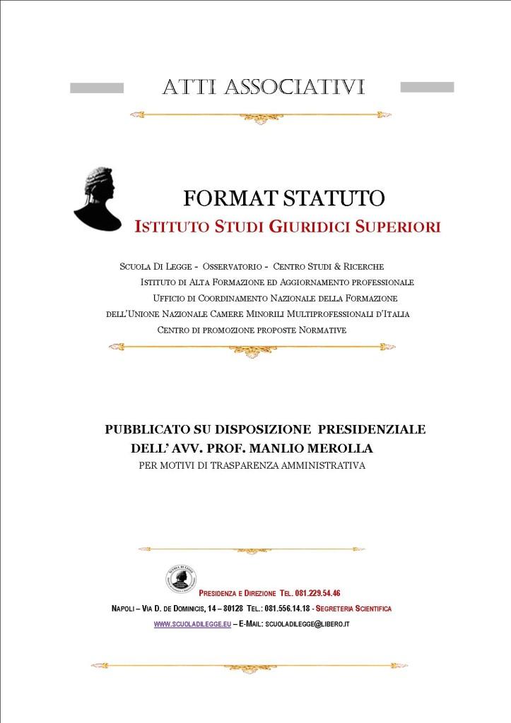 FORMAT STATUTO  ISGS