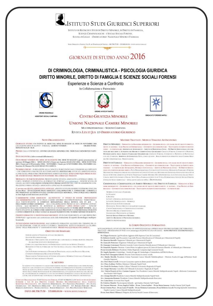 LOCANDINA  CORSO 2016 TPM  SCUOLA DI LEGGE