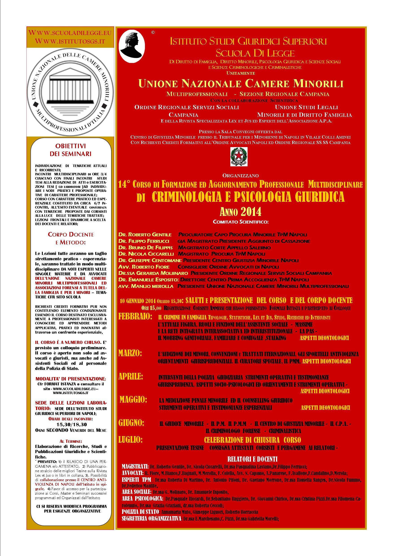 MANIFESTO SEMINARI CRIMINOLOGIA 2014