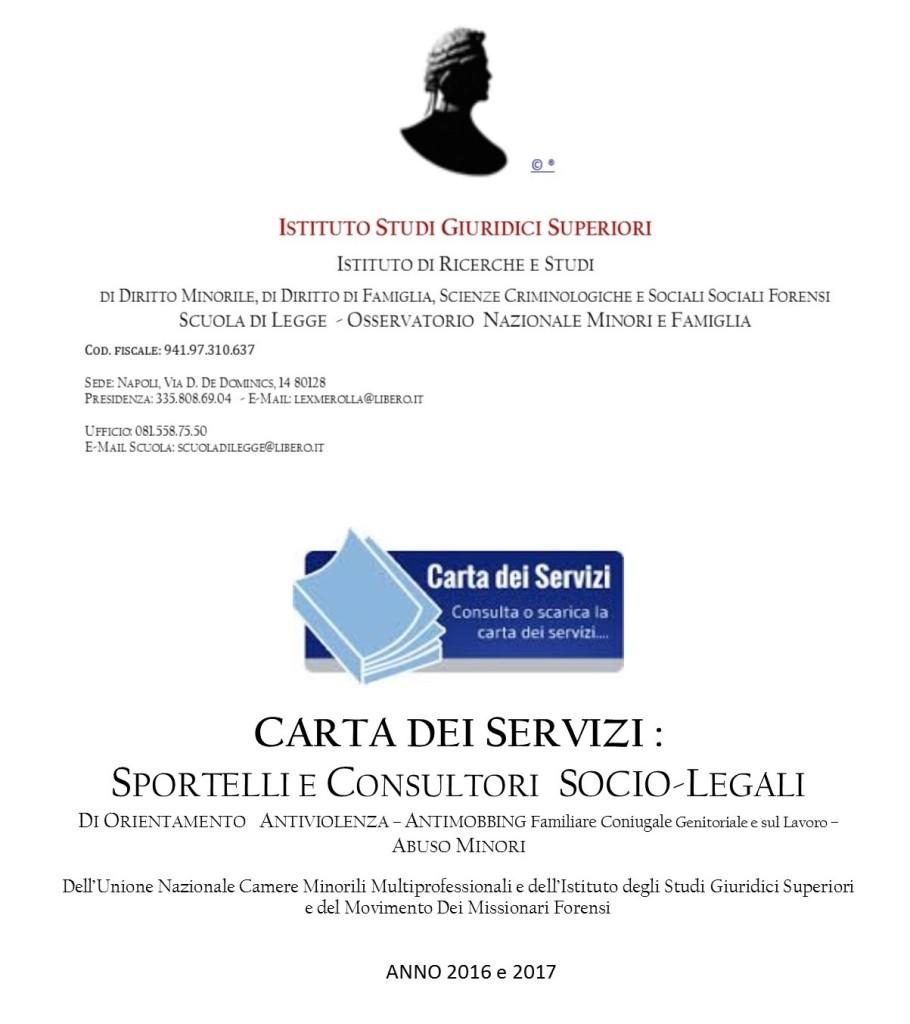 CARTA DEI SERVIZI ISGS et UCMM. bpub