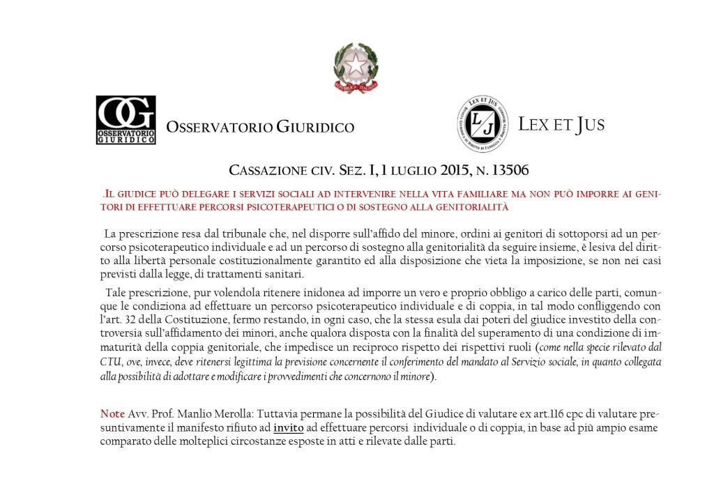 LEGAL NEWS OSSERVATORIO GIURIDICO.6  SERVIZI SOCIALI JUS