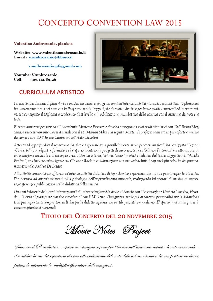 NOTE CURRICULUM  PIANISTA AMBROSIANO